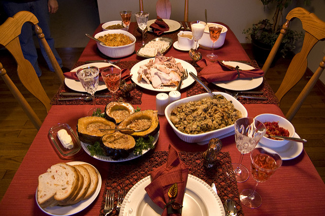 A traditional Thanksgiving dinner (Photo by Ian Freimuth)
