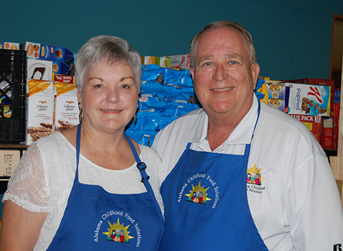 Jim and Linda Jones lead a team of volunteers to feed nearly 3,000 children with a backpack of food 49 weeks a year.